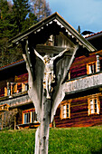 'Wooden carving of Christ on the cross; Brixlegg, Austria'