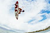 'Professional kiteboarder Niccolo Porcella kitesurfing on the south shore of Maui, Maui, Hawaii, United States of America'