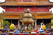 'The Hien Lam Pavilion in the Imperial Citadel, Imperial Palace of Hoang Thanh, Forbidden City; Hue, Vietnam'