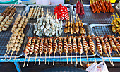 variation of seafood at a Thai market