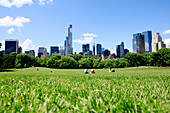 Central Park and surrounding city skyline in Manhattan, New York City, New York, United States of America.