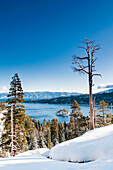 Emerald Bay and Fannette Island with fresh snow