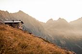 Andolla Hut at sunrise, Ossola, Italy