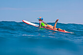 Picture of Surfer Girl in the Ocean.