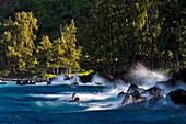 'Lapahoehoe shoreline, Hamakua Coast; Island of Hawaii, Hawaii, United States of America'