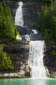 'Waterfall emptying into Endicott Arm, fjord in Tracy Arm-Fords Terror Wilderness, South of Juneau; Alaska, United States of America'