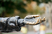 'Hand on a statue reaching out; Ottawa, Ontario, Canada'