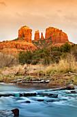 'Slow moving stream from Cathedral Mountain; Sedona, Arizona, United States of America'