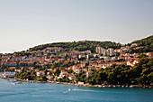 'Town of Dubrovnik from the Franco Tudjman Bridge; Dubrovnik, Dalmatia, Croatia'