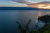 Lake Toba at sunset, North Sumatra, Indonesia