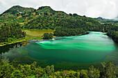 Telaga Warna (Colorful Lake), Dieng Plateau, Java, Indonesia, Southeast Asia, Asia