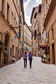 The narrow streets of Volterra, Tuscany, Italy, Europe