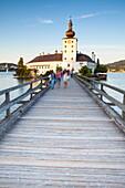 Picturesque Schloss Ort, Lake Traunsee, Gmunden, Salzkammergut, Upper Austria, Austria, Europe
