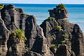 Beautiful rock formation, Pancake Rocks, Paparoa National Park, West Coast, South Island, New Zealand, Pacific