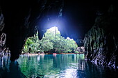 Puerto Princesa underground river, the New Wonder of the World, Puerto-Princesa Subterranean River National Park, UNESCO World Heritage Site, Palawan, Philippines, Southeast Asia, Asia