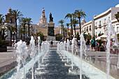 Plaza de San Juan de Dios, Platz in der Altstadt von Cádiz, Costa de la Luz, Provinz Cádiz, Andalusien, Spanien, Europa