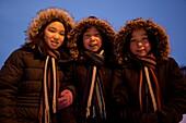 Schoolgirls in Qaanaaq, Northwest Greenland, Greenland