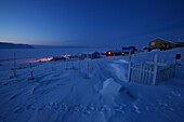 Cemetery of Siorapalul, northernmost natural settlement of the earth, Northwest Greenland, Greenland