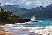 Surf at the Samana peninsula, Dominican republic