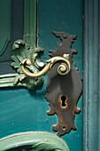 Ornamental door handle, Lubeck, Schleswig-Holstein, Germany
