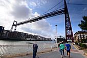 Bridge, Puente de Vizcaya, Bilbao, Basque country, North-Spain, Spain