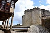 At the castle, Puebla de Sanabria, Zamora, Castile and Leon, north-Spain, Spain