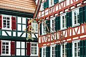Timber frame houses, Calw, Black Forest, Baden-Wuerttemberg, Germany