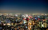Tokio im Januar bei Nacht, Tokio, Japan