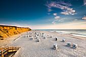 Strandkörbe, Rotes Kliff, Kampen, Sylt, Nordfriesland, Schleswig-Holstein, Deutschland