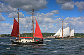 Kiel week, Sailing boats on the Kiel Fjord, Schleswig Holstein, Germany