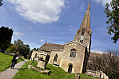 St. Mary's Kirche von Downton Abbey, Bampton, Oxfordshire, England, Großbritannien