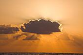 Photograph of the sun setting over the Mediterranean sea