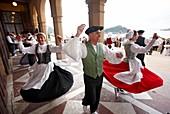 Basque dances, Palacio de Miramar, San Sebastian, Guipuzcoa, Basque Country, Spain