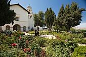 ROSE GARDEN MISSION SAN JUAN BAUTISTA STATE PARK CALIFORNIA USA