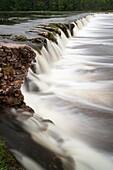 Latvia, Western Latvia, Kurzeme Region, Kuldiga, Ventas Rumba, Kuldiga Waterfall, widest waterfall in Europe, width 275 meters