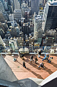 USA, New York, New York City, Manhattan view from atop the 30 Rock viewning Platform.