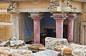 Entrance to the ritual baths, Palace of Knossos, Crete Island, Aegean Sea, Greece.