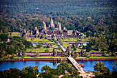 Cambodia, Far East, Asia, Siem Reap, temple, Angkor Wat, tourist, tourism, temple arrangement, water, overview, flight admission, traveling, place of interest, landmark