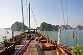 Vietnam, Asia, Far East, Halong bay, cliff formation, rock, cliff, coast, boat, ship, world cultural heritage, Unesco, traveling, place of interest, landmark