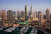 Dubai, United Arab Emirates, Middle East, UAE, Middle East, skyline, blocks of flats, high_rise buildings, sea, Marina, harbour, port, boats, travel, place of interest, landmark