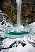Leuenfall, Switzerland, canton Appenzell, Innerrhoden, Bach, waterfall, ice, , , , icicle, winter, cold, rock, cliff,