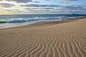 Cape Verde, Cape Verde Islands, sal, ponta preta, sand, dunes, sea, waves, Atlantic, beach, seashore, sand beach, lines, structure
