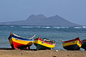 Cape Verde, Cape Verde Islands, sao vicente, coast, beach, seashore, sand beach, boots up, fishing boats, oar boats, baia gatas