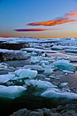 Jökulsárlón is the best known and the largest of a number of glacial lakes in Iceland  It is situated at the south end of the glacier Vatnajökull between Skaftafell National Park and Höfn  Appearing first only in 1934-1935, the lake grew from 7 9 km² in 1