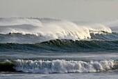 huge waves from a hurricane in the atlantic ocean