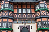 Detail of the historic town hall in Wernigerode, Harz, Germany, Europe
