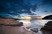 Sunset on the coast of the natural park of Cabo de Gata, Almeria
