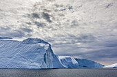 Huge icebergs calved from the Ilulissat Glacier, a UNESCO World Heritage Site, Ilulissat, Greenland.