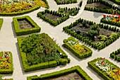 Public gardens in La Garde-Adhemar, Drome, France.