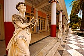 The Neo Classical Pompeian style Achilleion Achilles, the Palace 1890 built by Elizabeth Sissi Emperess of Austria